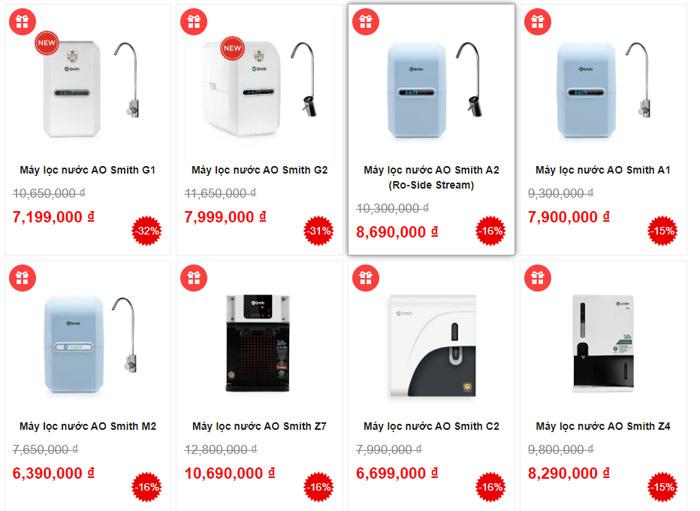 Top 3 địa chỉ bán máy lọc nước RO AO Smith RẺ NHẤT