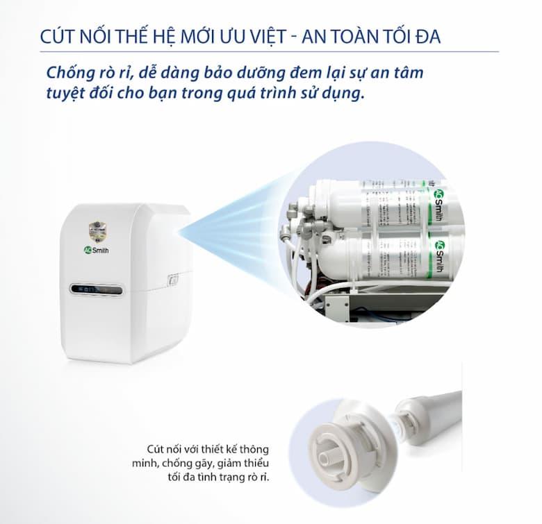 Máy lọc nước AO Smith E2 ứng dụng cút nối nhanh thế hệ mới