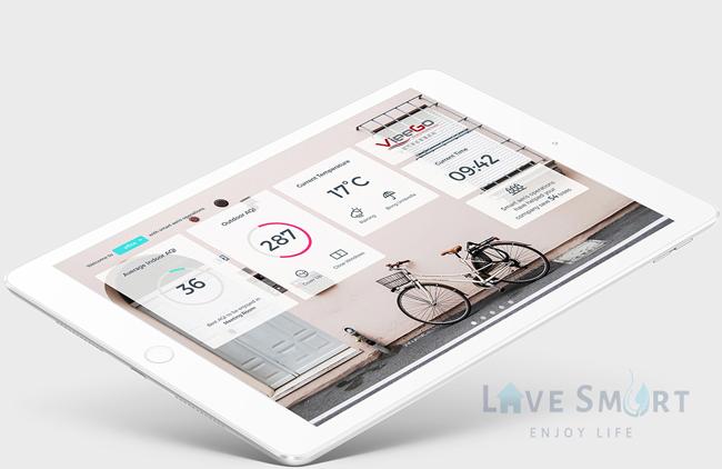 Kết nối và điều chỉnh Aeris Aair Gas Prothông minh bằng app trên smartphone qua wifi