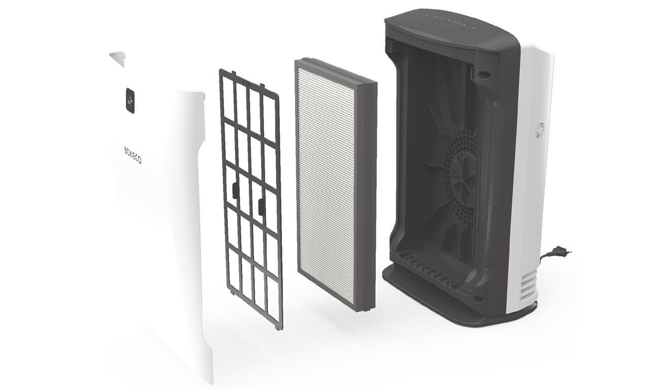 hệ thống màng lọc cao cấp của máy lọc không kí boneco p340
