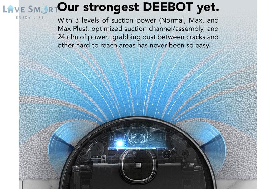 Hệ thống tăng áp củaRobot hút bụi Deebot Ozmo 950-DX9G