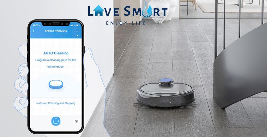 Ecovacs Home - ứng dụng điều chỉnhDeebot Ozmo 960-DG8G