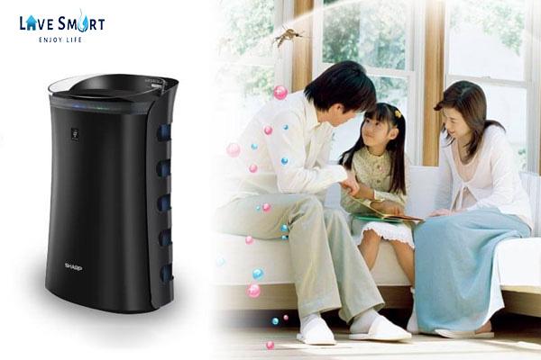 Máy lọc không khí cho gia đình Sharp cho không gian gia đình luôn trong lành sạch sẽ